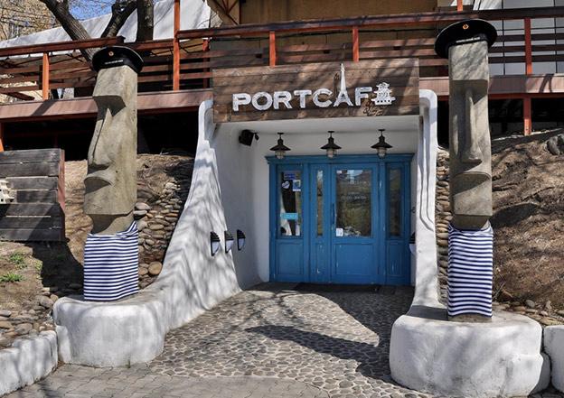 Port Cafe - ресторан дальневосточной кухни. Фасад, Вход